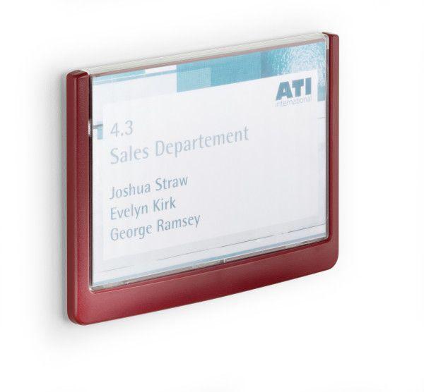 Orientační tabulka CLICK SIGN 149x105,5 mm - Červená DURABLE