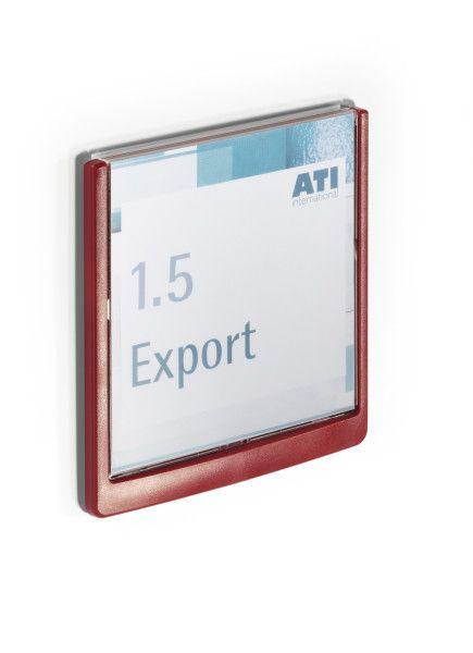 Orientační tabulka CLICK SIGN 149x148,5 mm - Červená DURABLE