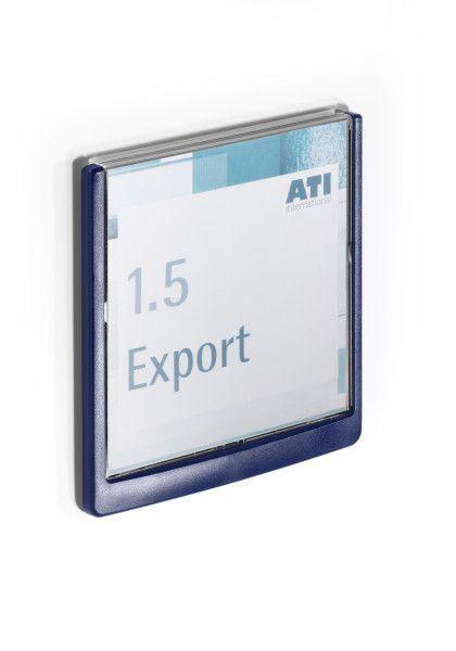 Orientační tabulka CLICK SIGN 149x148,5 mm - Modrá DURABLE