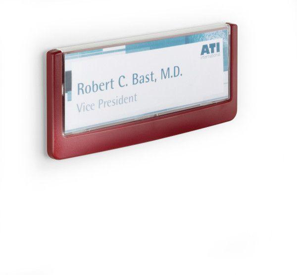Orientační tabulka CLICK SIGN 149x52,5 mm - Červená DURABLE