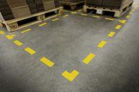 """Podlahové značení """"STOPA"""" - 240x90 mm - 5 párů DURABLE"""