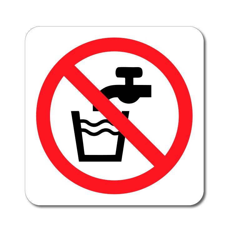 Bezpečnostní symbol - Voda není pitná - Samolepka A-Z Reklama CZ