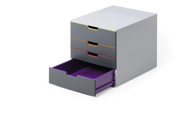 DURABLE VARICOLOR 4 - Zásuvkový box se 4 přihrádkami