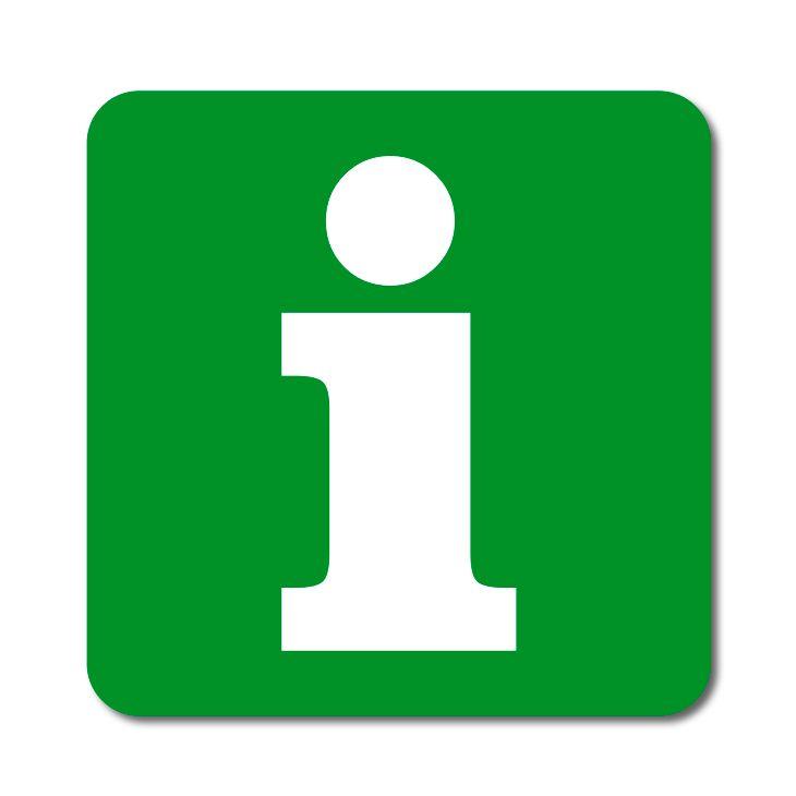Informační symbol - Informace - Samolepka A-Z Reklama CZ