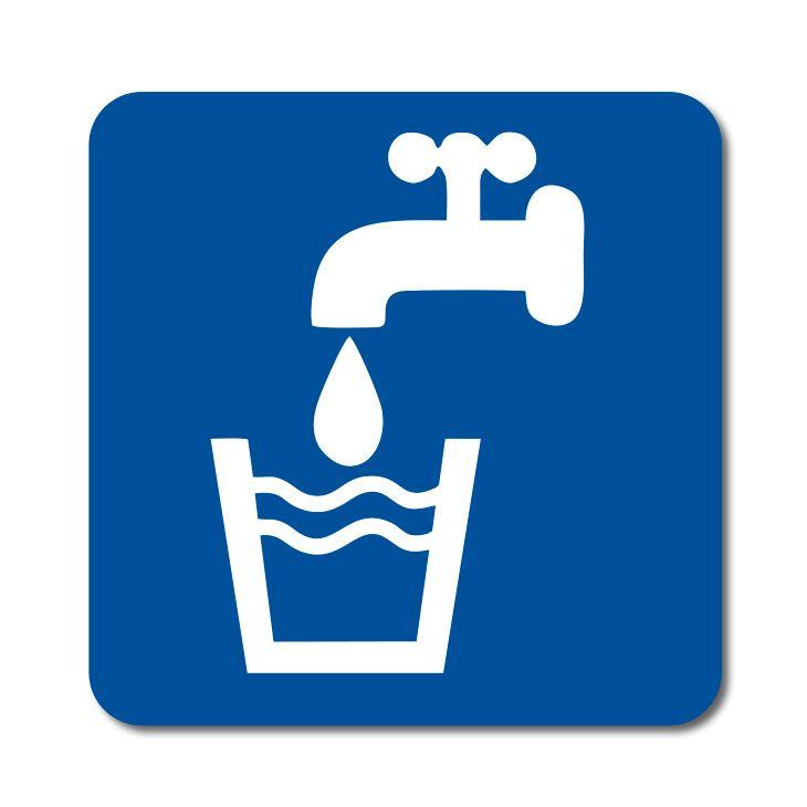 Informační symbol - Pitná voda - Samolepka A-Z Reklama CZ