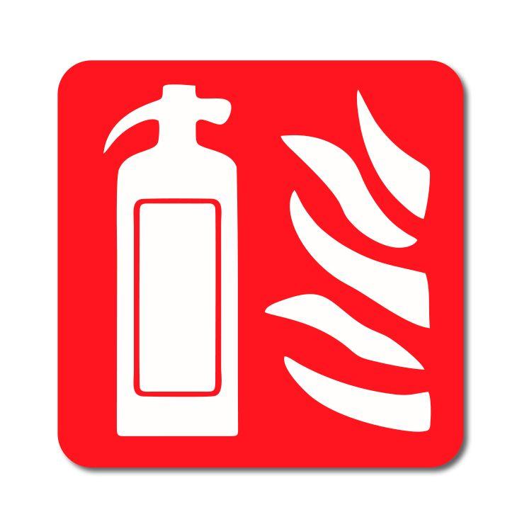 Symbol - Přenosný hasící přístroj - Samolepka A-Z Reklama CZ