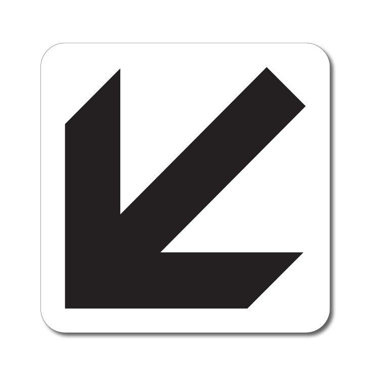 Symbol Šikmé směrové šipky - Samolepka A-Z Reklama CZ
