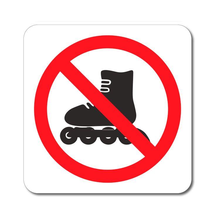 Symbol - Zákaz vstupu na bruslích - Samolepka A-Z Reklama CZ