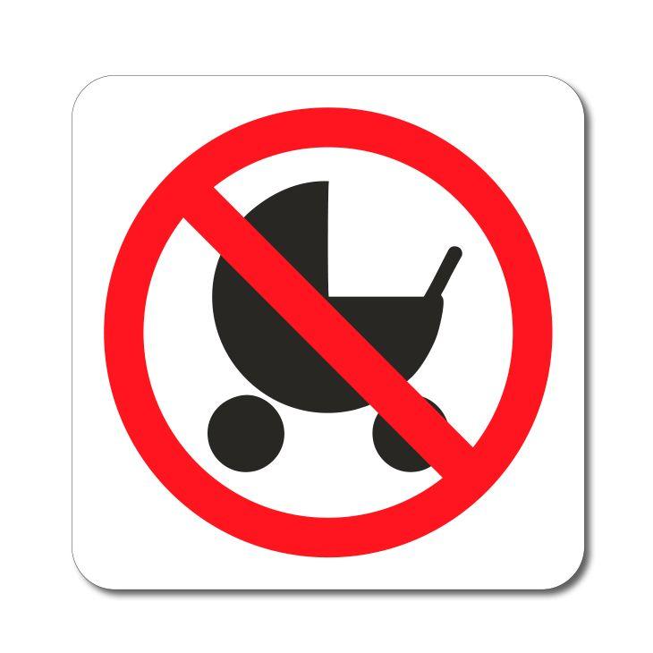 Symbol - Zákaz vstupu s kočárkem - Samolepka A-Z Reklama CZ