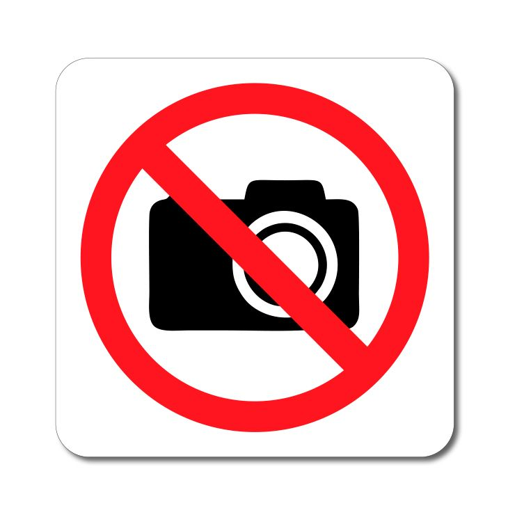 Zákazový symbol - Zákaz fotografování - Samolepka A-Z Reklama CZ