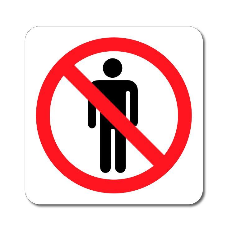 Zákazový symbol - Zákaz vstupu Postava - Samolepka A-Z Reklama CZ