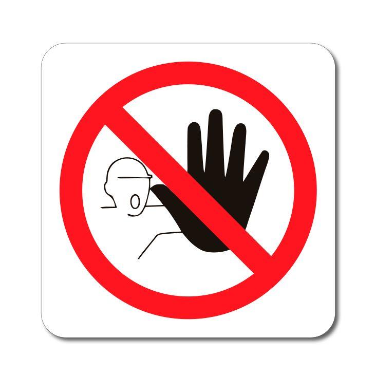 Zákazový symbol - Zákaz vstupu Ruka - Samolepka A-Z Reklama CZ
