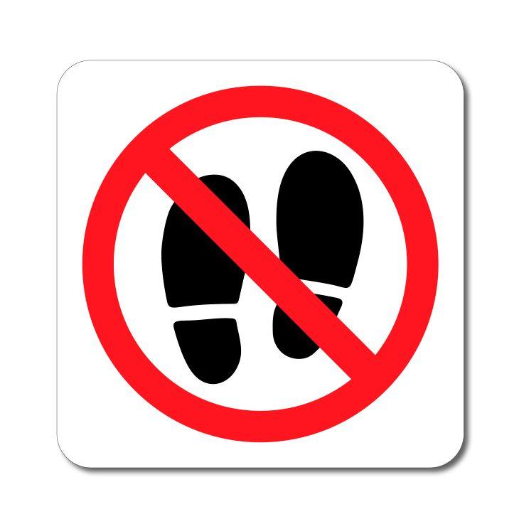 Zákazový symbol - Zákaz vstupu Stopy - Samolepka A-Z Reklama CZ