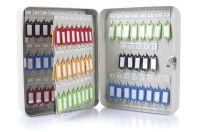 Kovová schránka na 93 klíčů, 240x300x80 mm, šedá DONAU