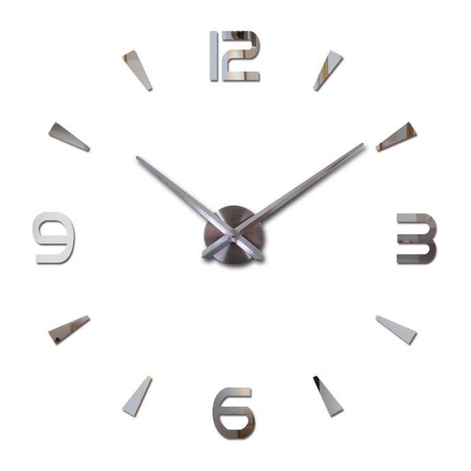 Nástěnné 3D analogové hodiny Brief Living, 120 cm - Chrom A-Z Reklama CZ