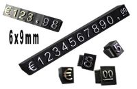 3D Cenovky 9x6 mm Eur 1 řada - Stříbrný prolis