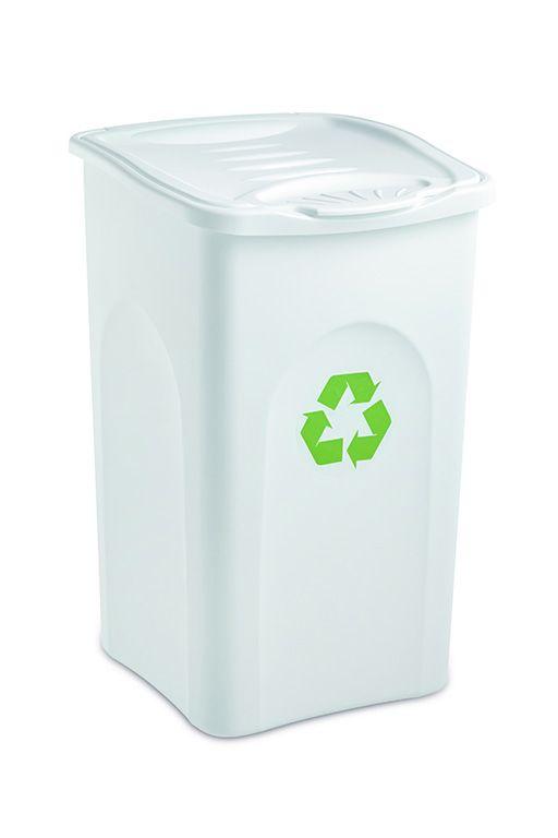Odpadkový koš 50 l BEGREEN - Bílý