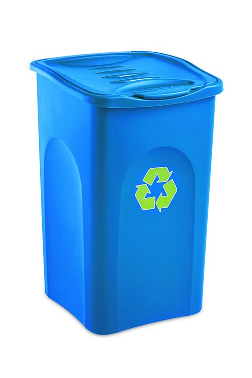 Odpadkový koš na tříděný odpad 50 l BEGREEN - Modrý