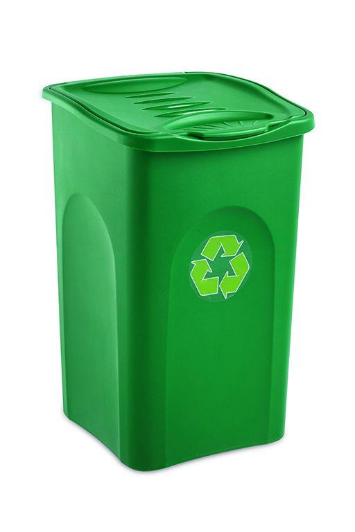 Odpadkový koš 50 l BEGREEN - Zelený