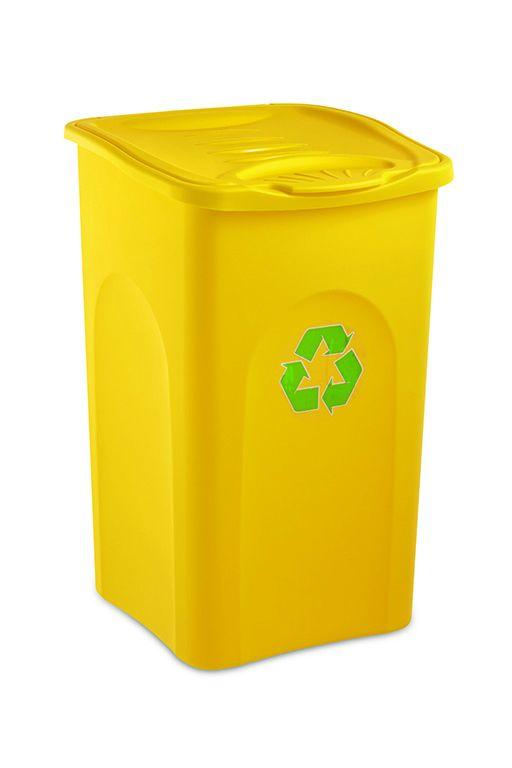 Odpadkový koš 50 l BEGREEN - Žlutý
