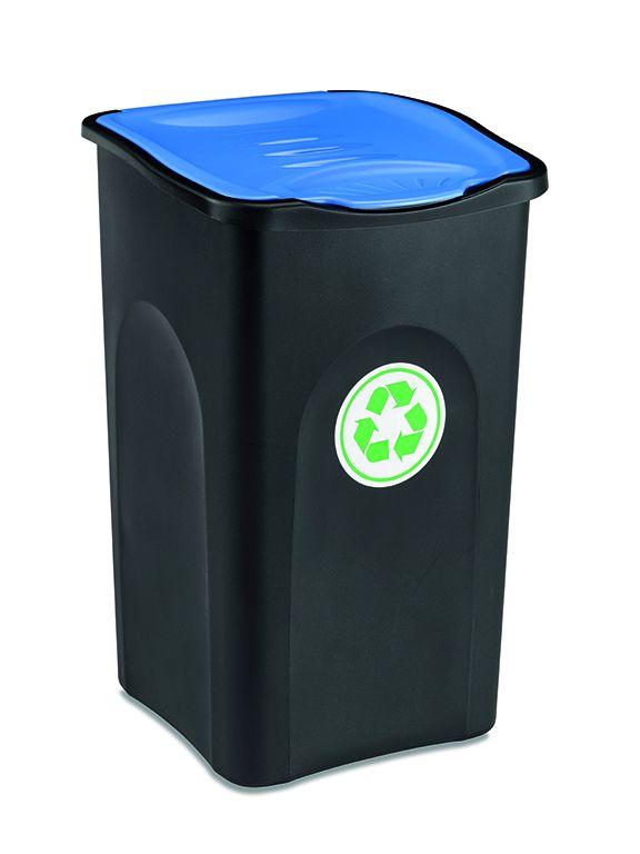 Odpadkový koš na tříděný odpad 50 l ECOGREEN - Modré víko