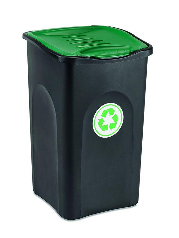 Odpadkový koš 50 l ECOGREEN - Zelené víko