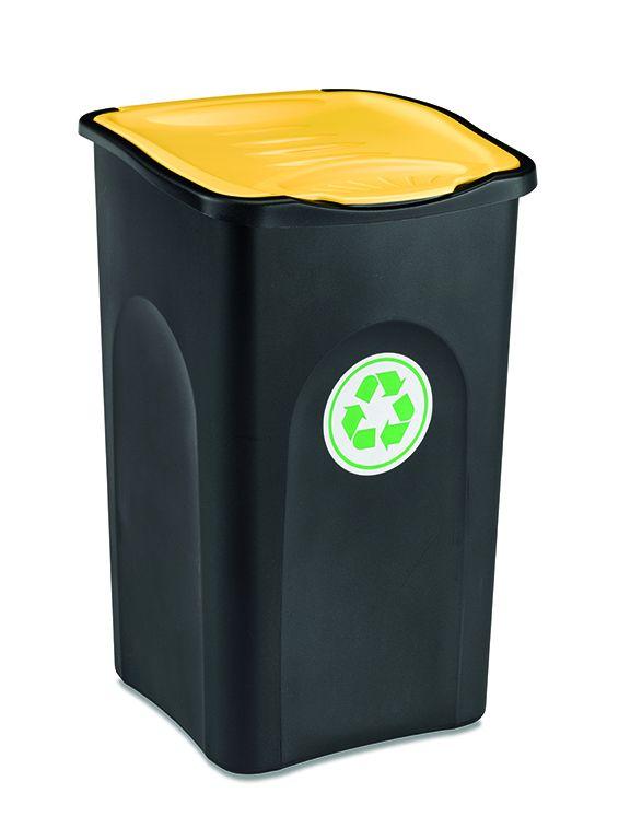 Odpadkový koš 50 l ECOGREEN - Žluté víko