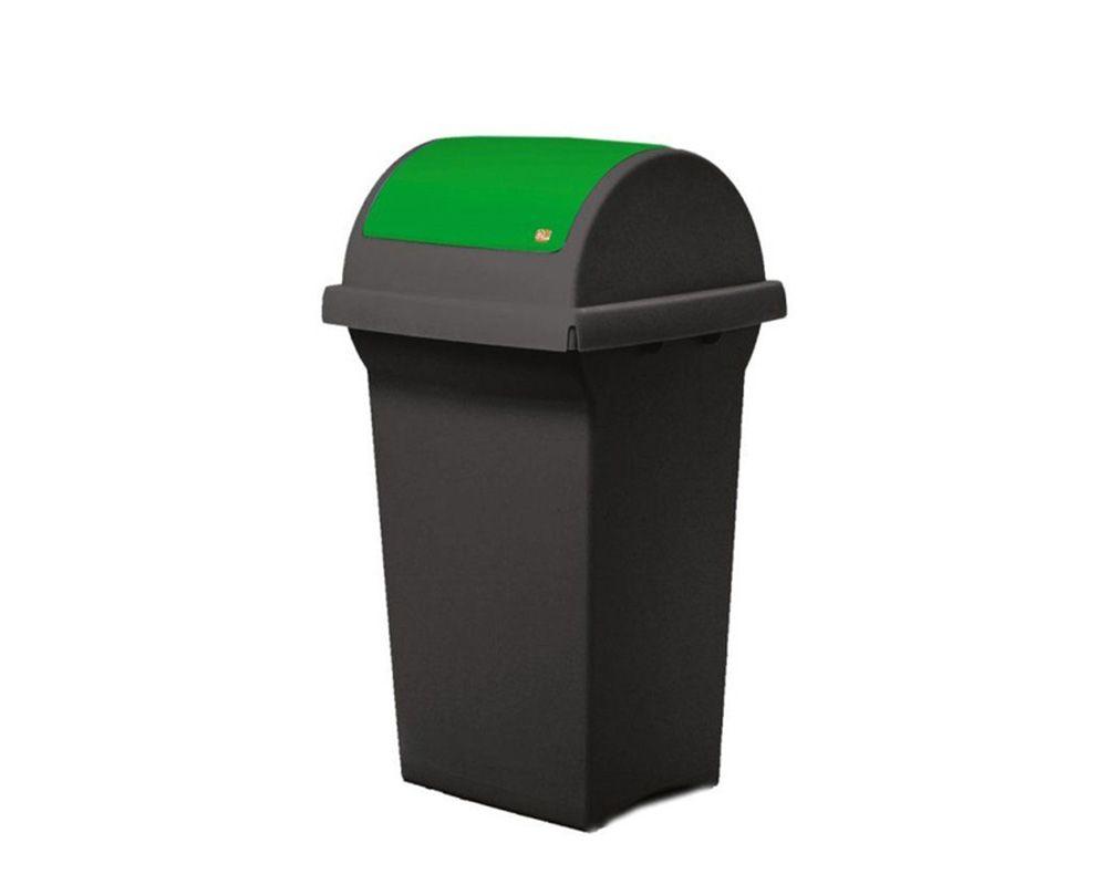 Odpadkový koš na tříděný odpad 50 l SWING - Červené víko