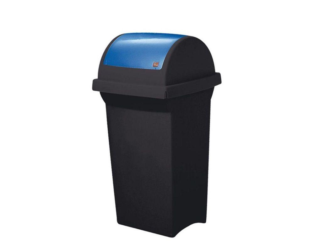 Odpadkový koš na tříděný odpad 50 l SWING - Modré víko