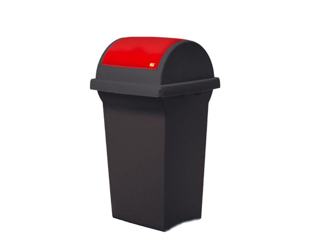 Odpadkový koš na tříděný odpad 50 l SWING - Zelené víko
