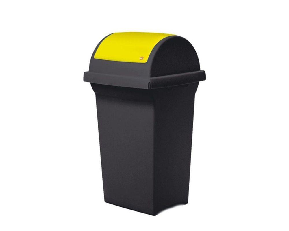 Odpadkový koš na tříděný odpad 50 l SWING - Žluté víko