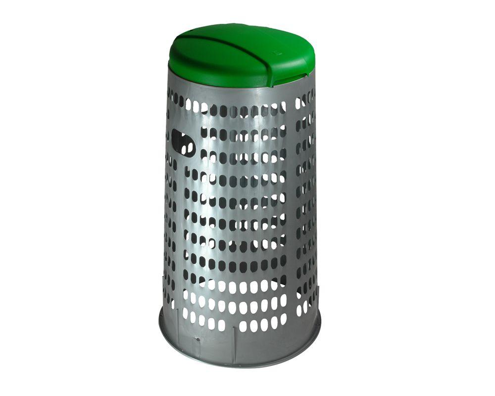 Stojan na 110 l pytle na tříděný odpad ECO - Zelené víko