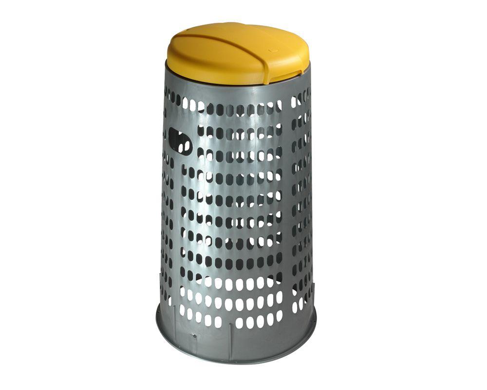 Stojan na 110 l pytle na tříděný odpad ECO - Žluté víko