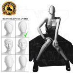 Bílá Dámská abstraktní figurína-póza 11
