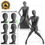 Černá Dámská abstraktní figurína-póza 11