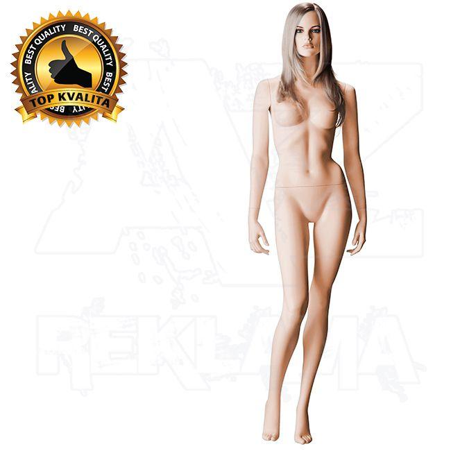 Dámská figurína s hlavou pro paruku na spodní prádlo póza 6 - Tělová s make-up
