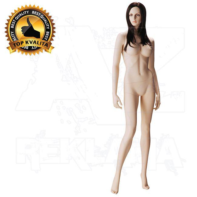 Dámská figurína s hlavou pro paruku na spodní prádlo póza 5 - Tělová s make-up