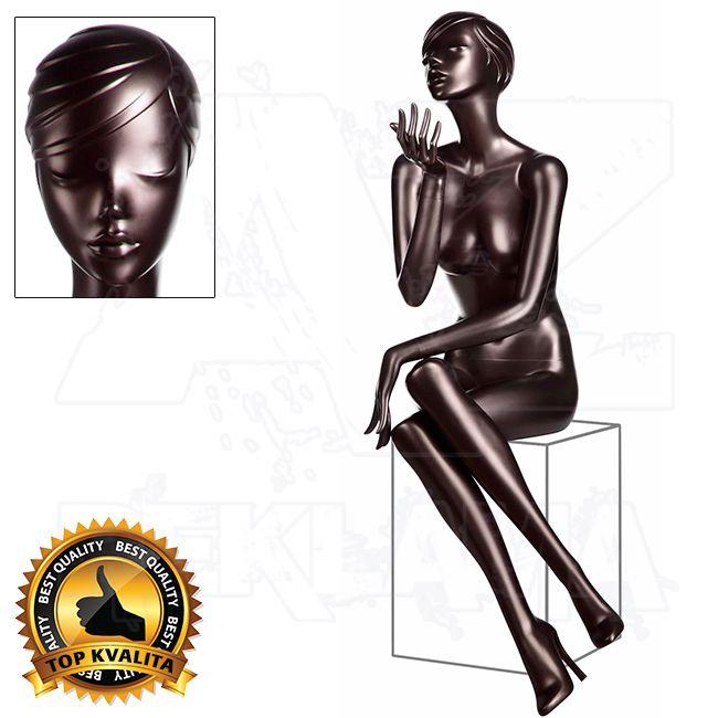 Dámská Figurína Silhouette Jolie s podpatkem - metalický lak - póza 7