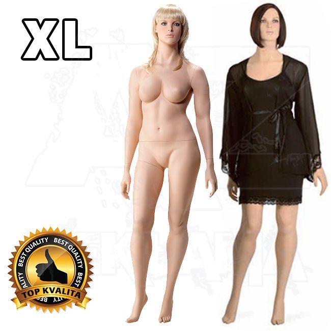 Dámská Plnoštíhlá figurína s hlavou pro paruku XL póza 1 A-Z Reklama CZ