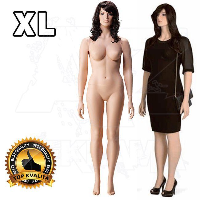 Dámská Plnoštíhlá figurína s hlavou pro paruku XL póza 3 A-Z Reklama CZ