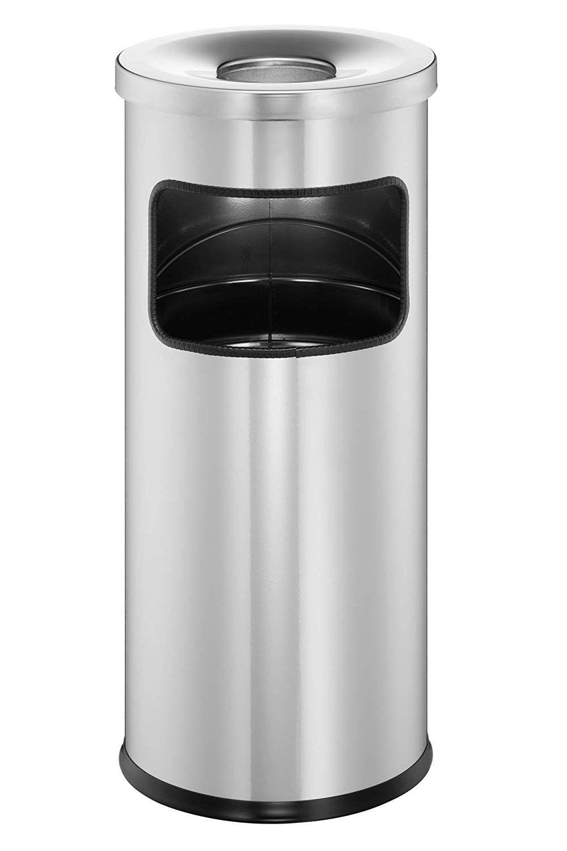 Koš Safe s kulatým popelníkem - Stříbrný