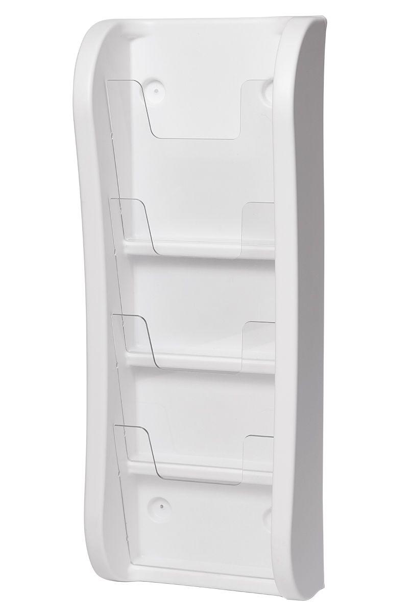 Trojkapsa na letáky 4xA5 nad sebou na zeď - Bílá A-Z Reklama CZ