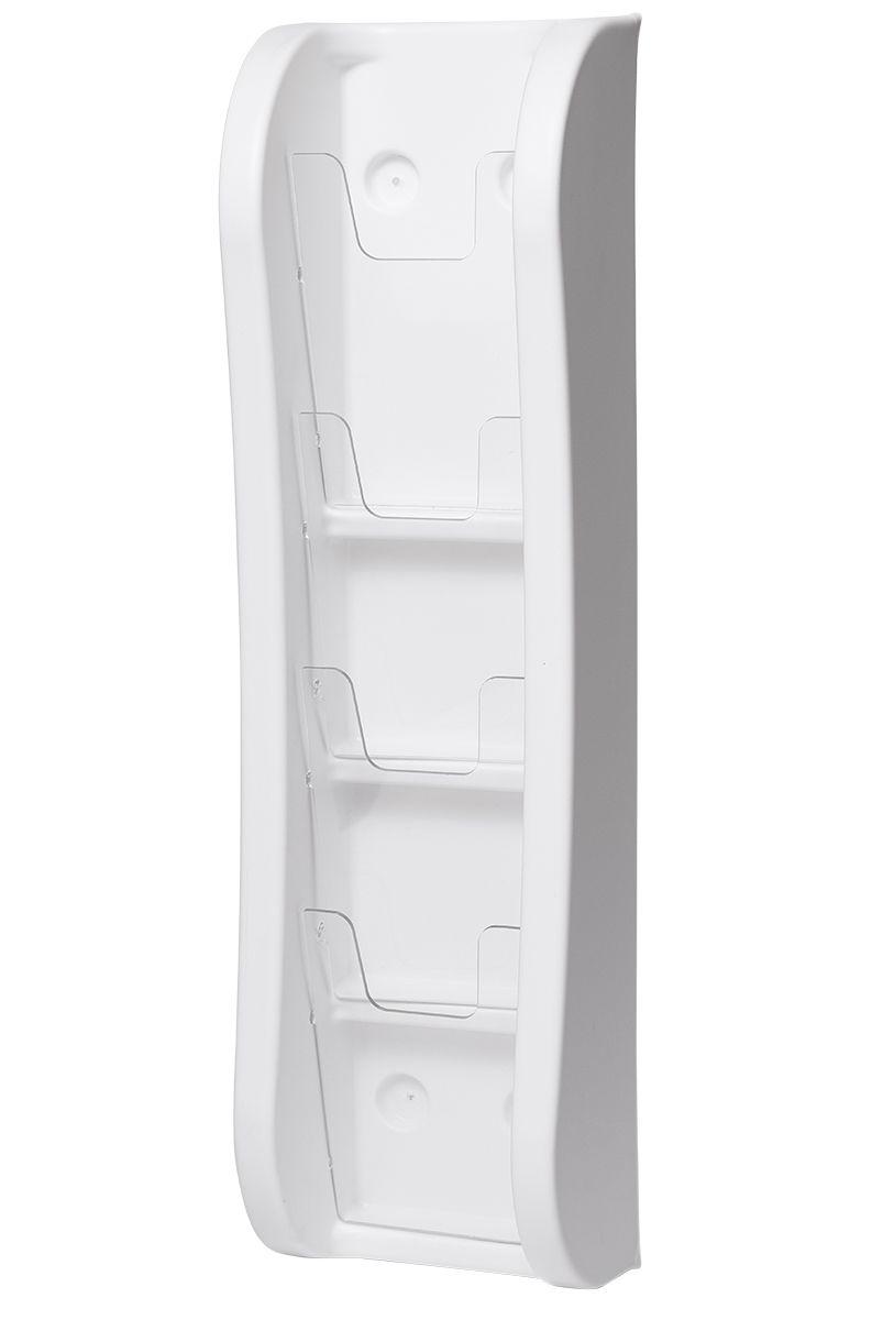 Trojkapsa na letáky 4xDL nad sebou na zeď - Bílá A-Z Reklama CZ