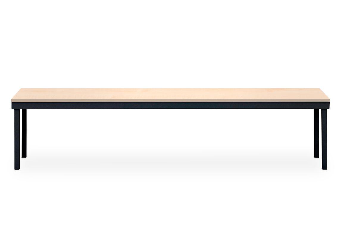 Šatní lavice 463x1200x350 mm, Černá - lamino Javor Triton