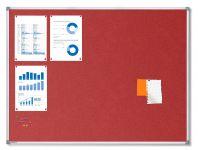 Textilní Červená nástěnka 90x120