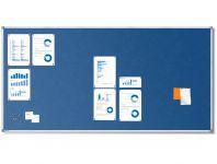 Textilní Modrá nástěnka 200x100