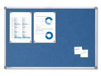 Textilní Modrá nástěnka 90x60