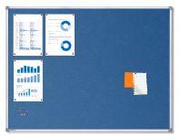 Textilní Modrá nástěnka 120x90