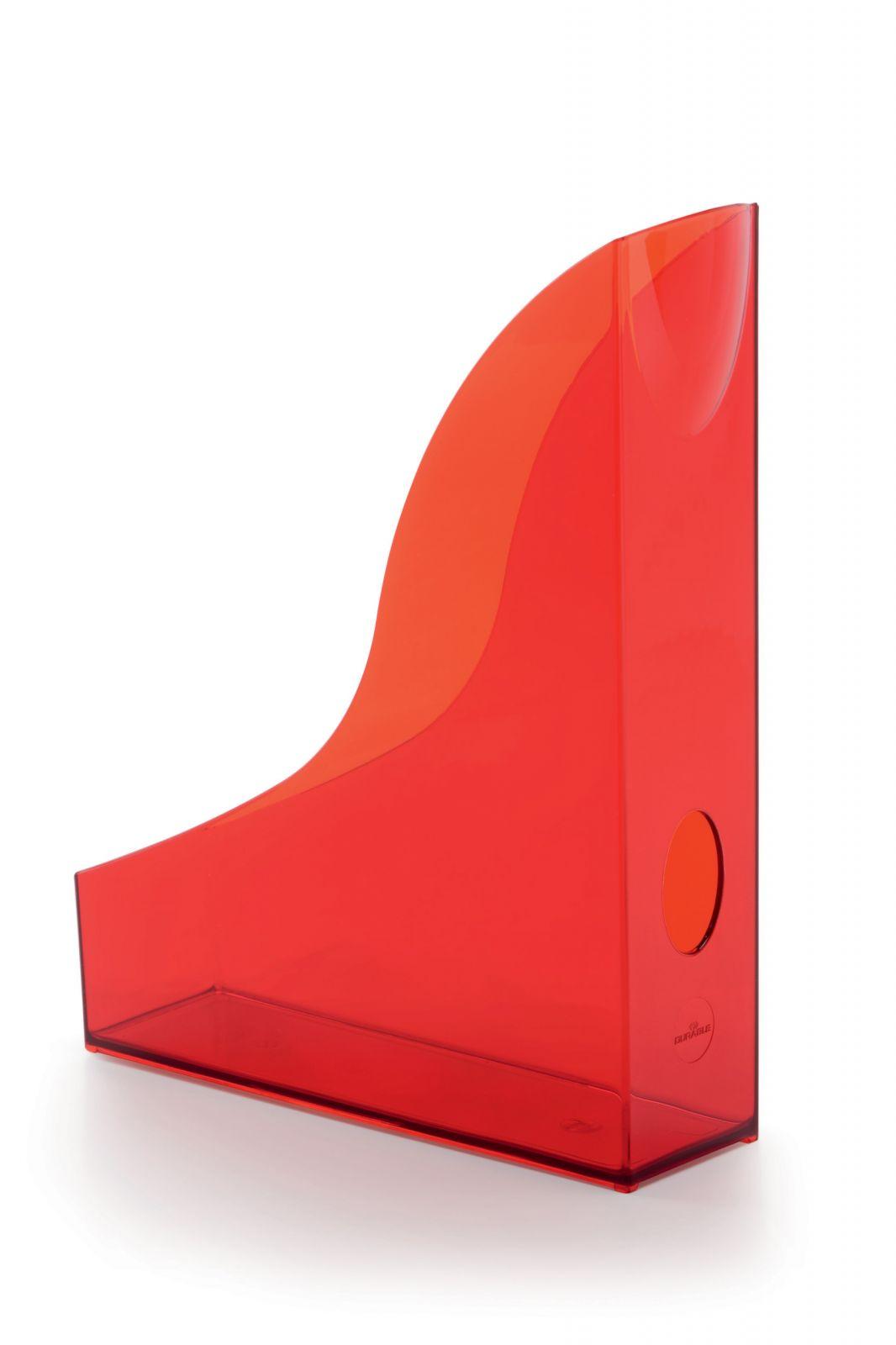 Úložné boxy - sada 6 kusů - Transp. Červené