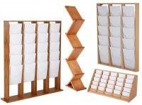 Dřevěné stojany na letáky